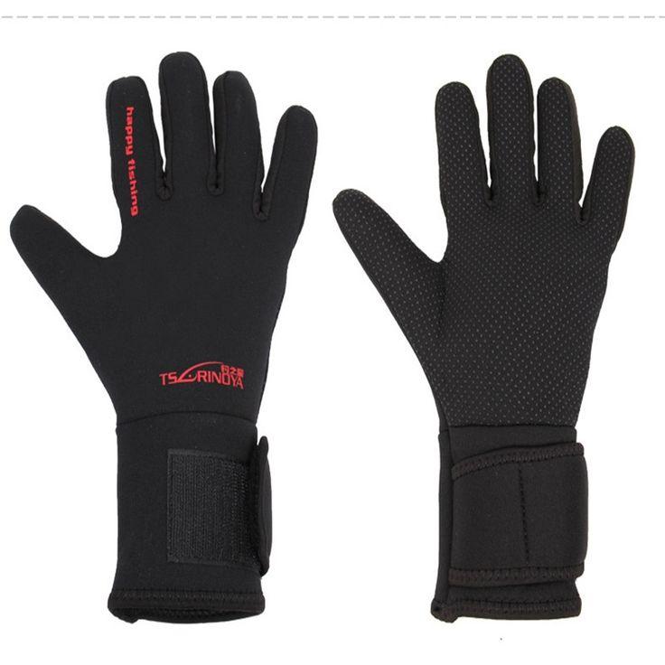 Full Finger Warm Thick Good Quality Anti-slip Men's Fishing Gloves Black Waterproof Non-slip Outdoor fishing Gloves