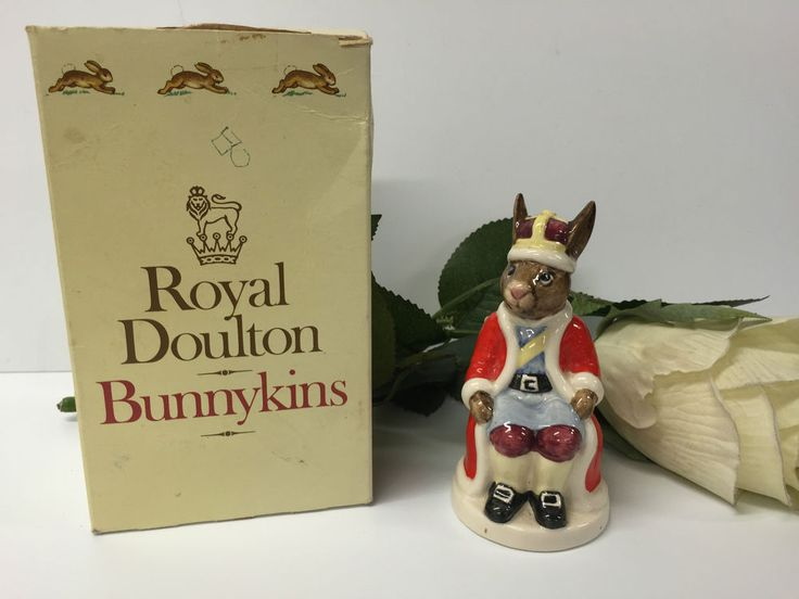 BEAUTIFUL BOXED  KING JOHN  BUNNYKINS BY ROYAL DOULTON 1985 EDITION DB45