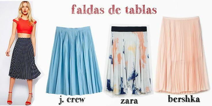 Pleated Skirts, Faldas de tablas, faldas plisadas, J.Crew, Zara, Bershka, Spring Summer trends,