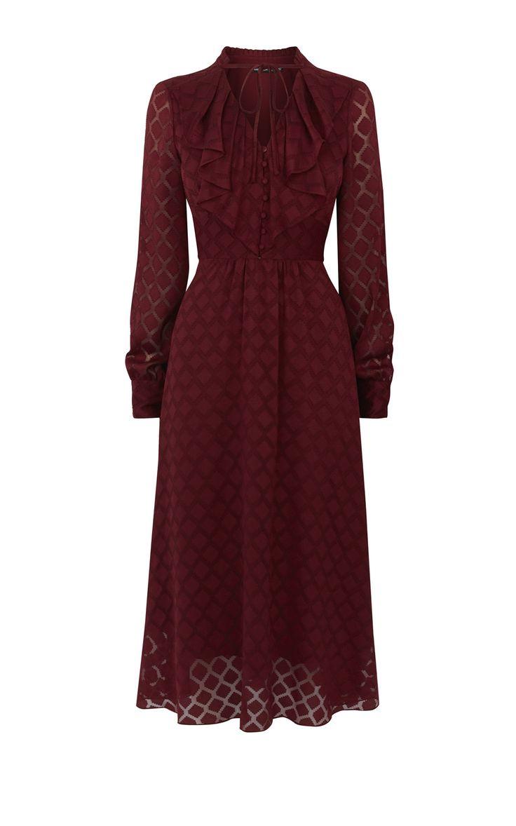 Платье с рюшами Karen Millen. Цвет , купить за 20 696р в официальном интернет магазине karenmillen.ru с доставкой по России