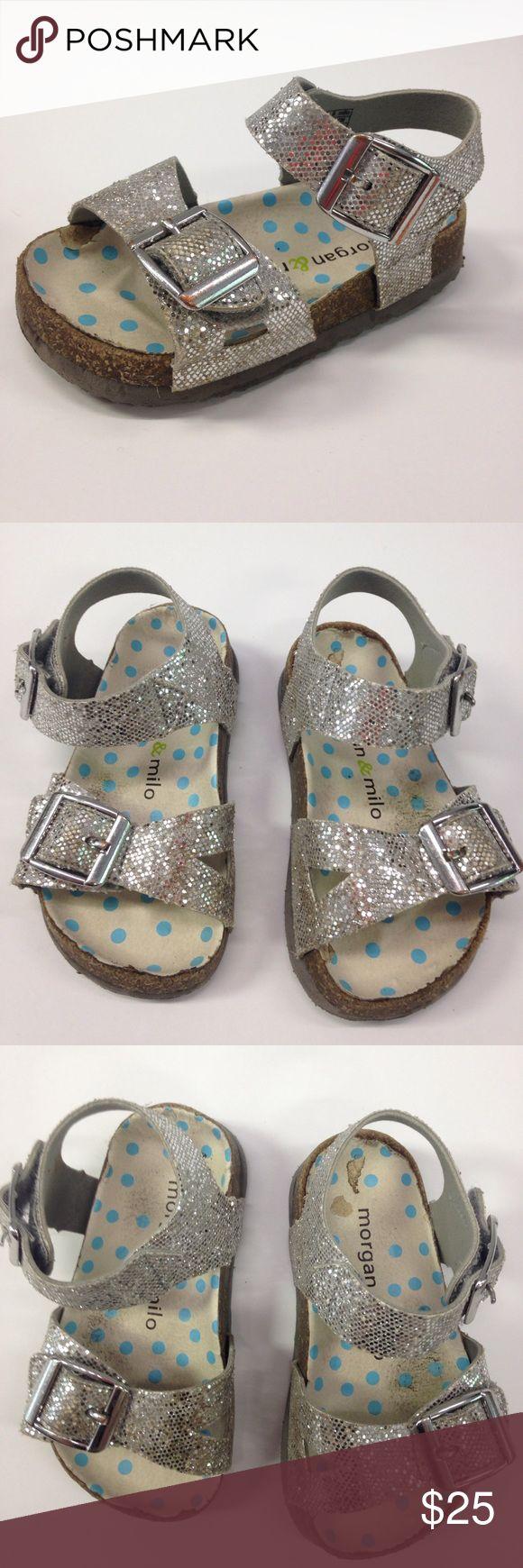 MORGAN & MILO BAYOU SILVER VELCRO SANDALS MORGAN & MILO BAYOU SILVER SANDALS. VELCRO CLOSURE. LIGHT/NORMAL WEAR. TODDLER GIRL SIZE 10 Morgan & Milo Shoes Sandals & Flip Flops