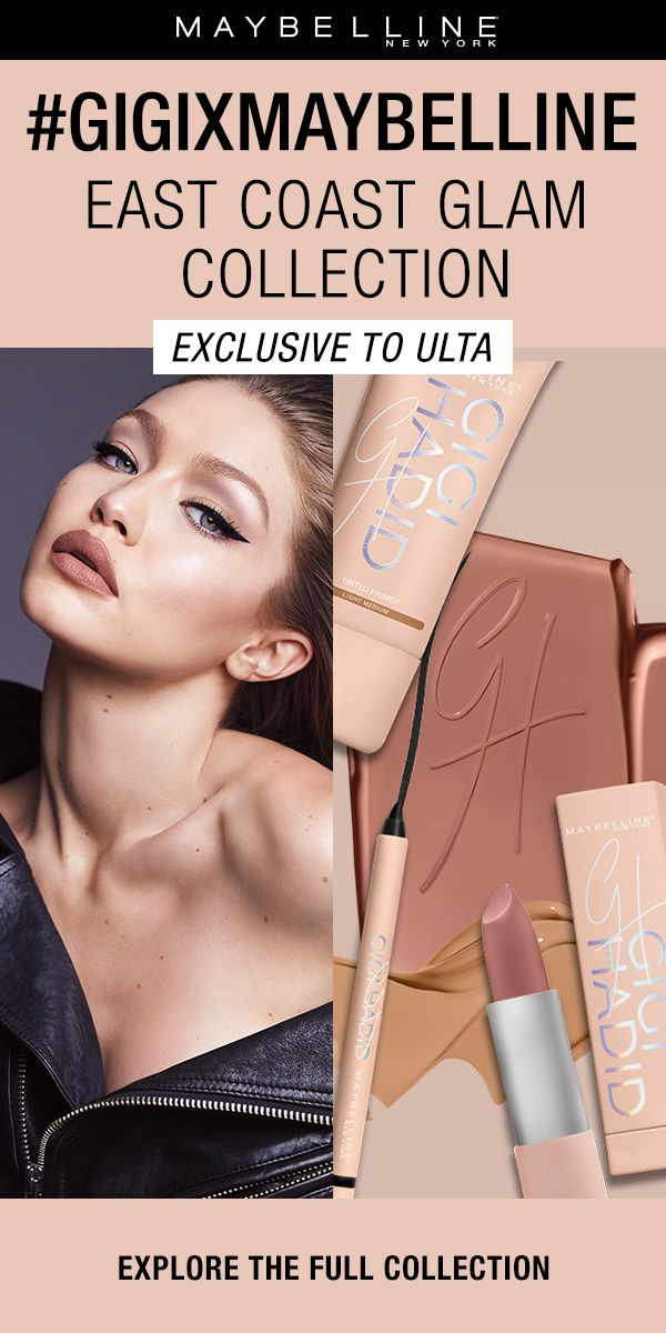 Fresh, bold, fierce. It is all about the cat eye in this city chic makeup look inspired by Gigi's home away from home, New York City.  This collection features two eyeshadow contour kits, a liquid liner, a gel liner, three nude lipsticks and three nude lip liners, a mascara, liquid strobe and a tinted primer. Exclusively at Ulta Beauty!
