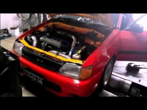 276bhp Toyota Starlet on Dyno run - YouTube