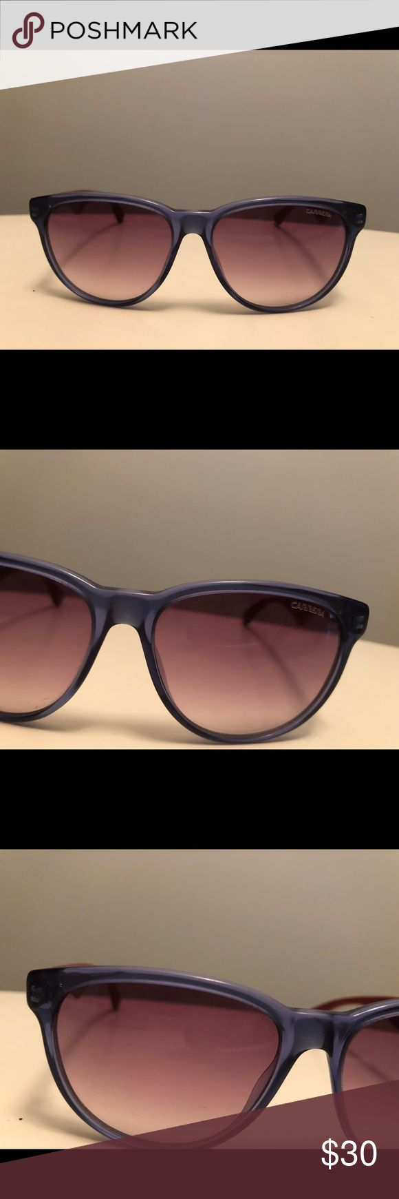 Carrera Sunglasses Model 6004 Blue frames and red arms. No scratches or imperfections. Seldom Worn. Women's Sunglasses Carrera Accessories Sunglasses