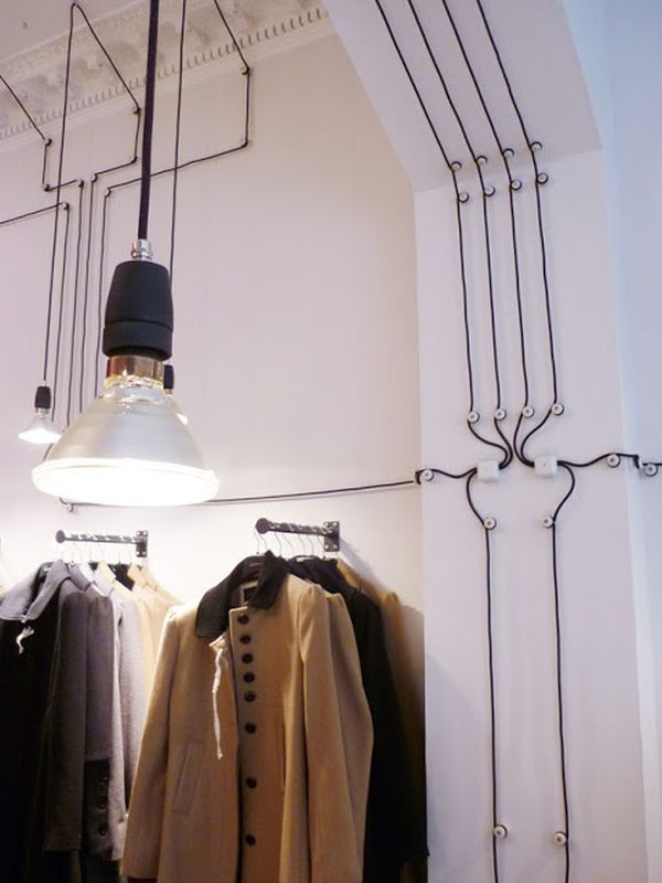 high ceiling shopping magazine cables design