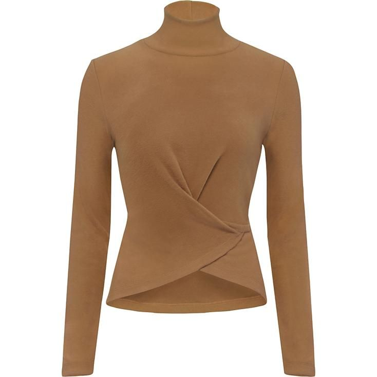 Women's HEATTECH Fleece Long Sleeve High Neck T-Shirt   UNIQLO