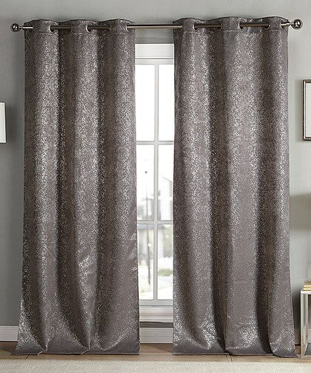 Duck River Textile Mouse Metallic Maddie Blackout Curtain Panel Set Of Two Zulily