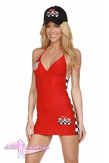 Besuche uns gern auch auf dressme24.com ;-) Formel 1 Girl - Boxenluder Kleid - Figurbetontes Stretch Microfaser Neckholder Minikleid. Auf Anfrage auch ohne Aufnäher/Patches lieferbar, dann können Sie das Kleid. Individuell durch ein Unternehmen Ihrer Wahl besticken oder beflocken lassen. #Racinggirl, #Boxenluder, #Gridgirl