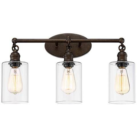 Cloverly 21 3 4 Wide Bronze 3 Light Led Bath Light 35e22 Lamps