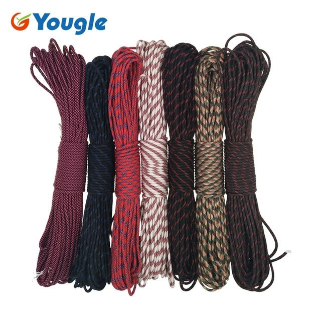 Yougle Paracord 550 Parachute Cord Lanyard Rope Outdoor Tent Wind