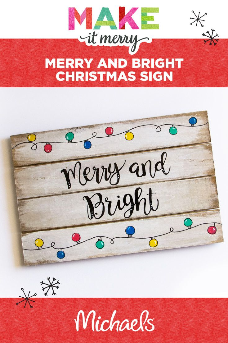 Anyone can make this quick & easy holiday sign project—a few supplies are all you need, like paint and a wood pallet plaque. Learn how to make this and more at michaels.com.