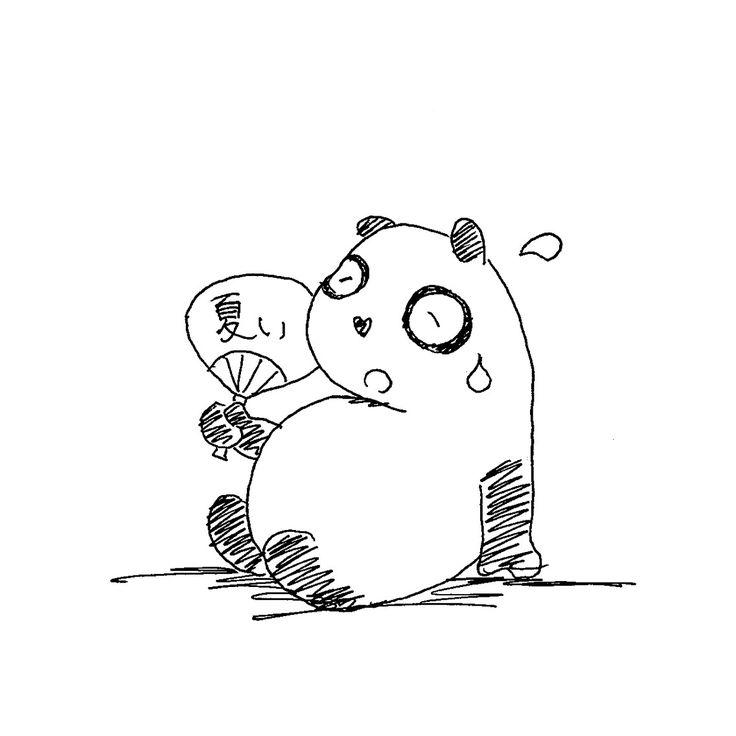 【一日一大熊猫】2016.6.23 暑い時は発汗、寒い時は体を震わせて熱を出すなど 人間の体には体温を一定に保とうとする 能力があるんだね。 この機能を無理せずに最大限利用したいね。 #パンダ #発汗