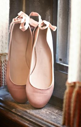 Wedding Shoes: Pink Ballet Slipper Wedding Shoes