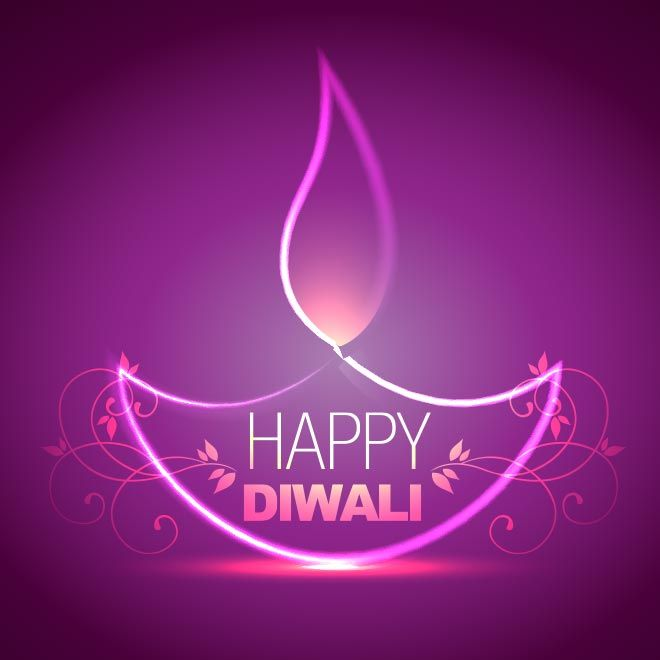 vector happy Diwali pink lighting diya concept with happy Diwali floral art logo pink abstract background deepavali greeting card and wallpa...