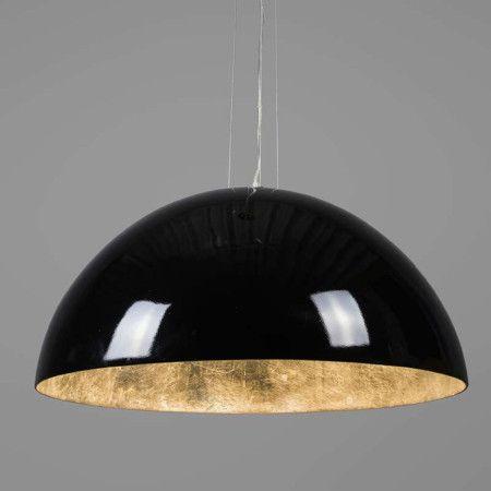 Hanglamp Magna Glossy 70cm zwart met zilver - Hanglampen - Binnenverlichting - Lampenlicht.nl €299,99