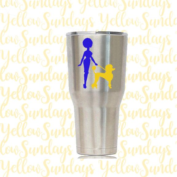 Sigma Gamma Rho| Decal| Vinyl| Sticker| Poodle by YellowSundays on Etsy