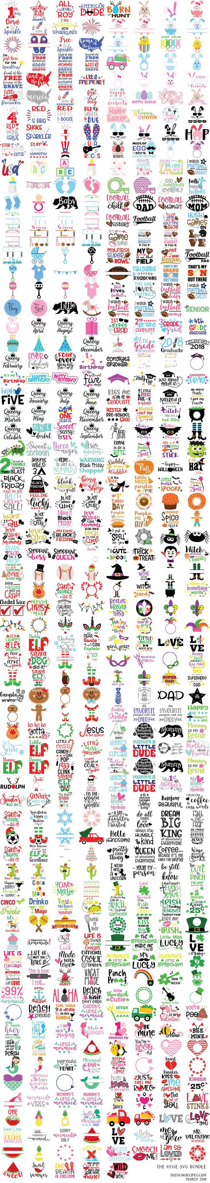 The Huge SVG Bundle by TheHungryJPEG   TheHungryJPEG.com
