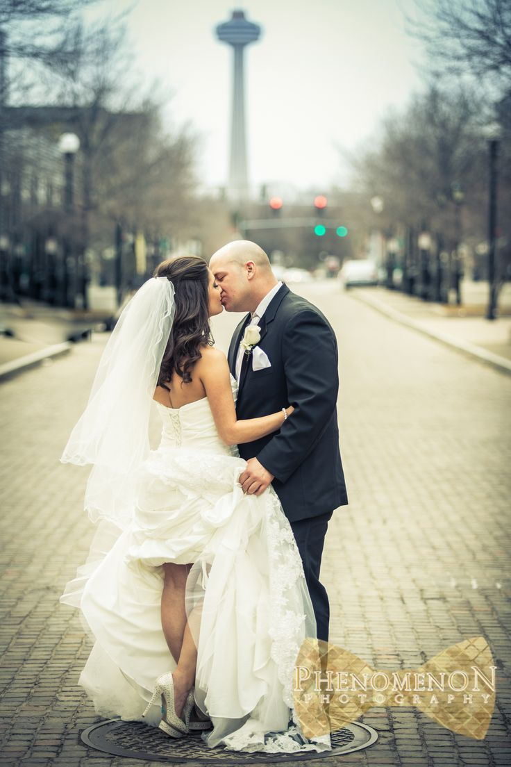 Jaclyn Josh Had A Beautiful April Wedding Was The Perfect Setting For Their Waterfront We Took Them To An Old Cobblestone Street In Niagara Falls NY