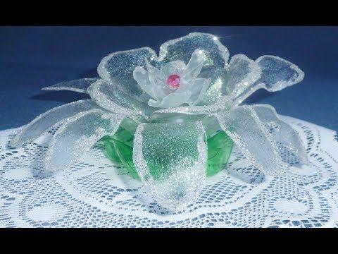 Tutorial: Paso a Paso Flor Diamantada Reciclada - YouTube