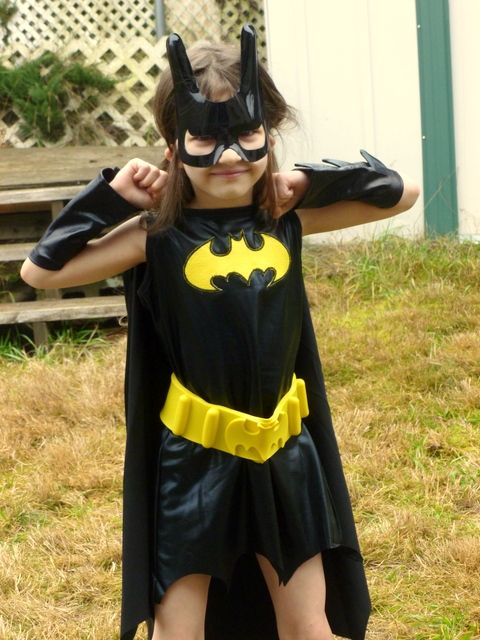 How Cute Is This Little Girls Superhero Costume -6815
