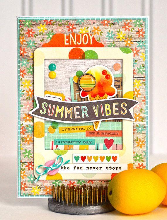 Ice Cream Birthday Card  Summer Birthday by #thecardkiosk #icecreamparty #icecreambirthday #birthdayparty #handmadecard #etsy #etsyseller #etsyshop