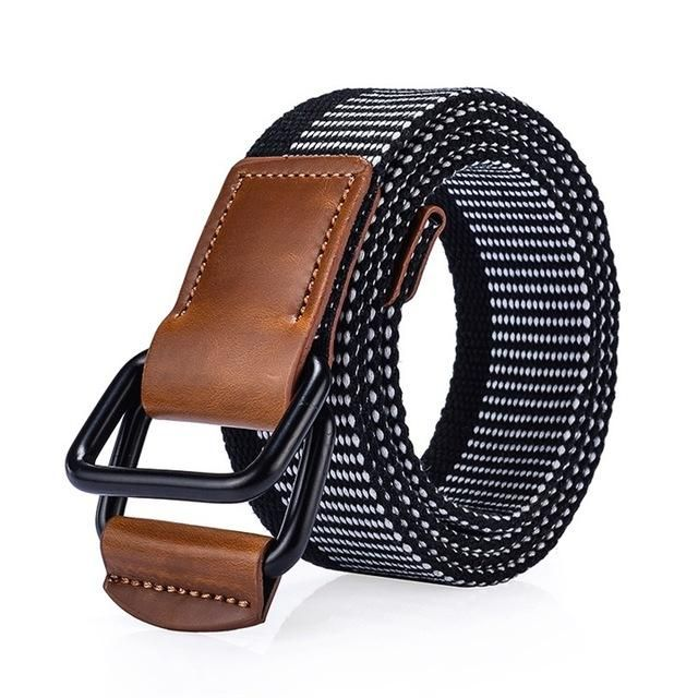 Mens Cotton Casual Canvas Plain Webbing Waist Belt Casual Canvas Belt