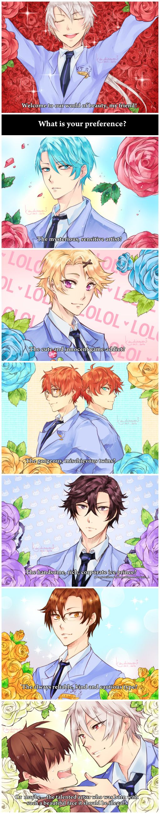 Mystic Messenger - Ouran High School Host Club parody