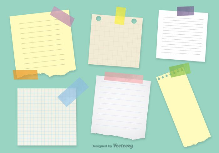 Office Notepaper Vector Templates
