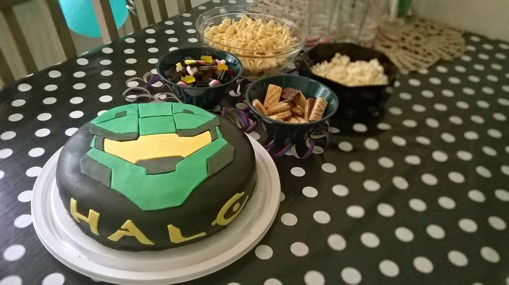 Halo cake, 9th birthday, Master Chief cake