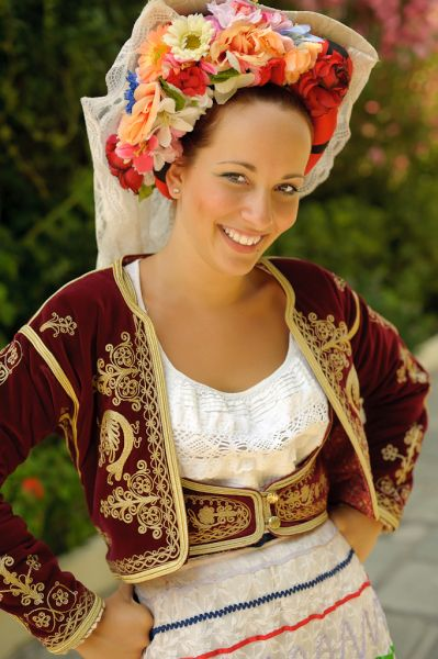 Traditional Costume from Corfu Island..