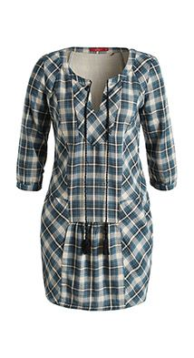 Esprit / check dress in 100% cotton