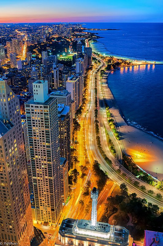 Chicago's Lake Shore Drive - from John Hancock Tower