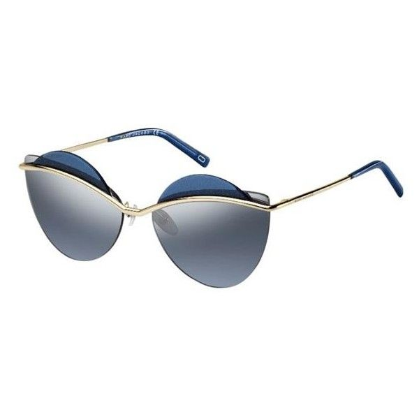 Marc Jacobs MARC 104/S 3YG/J3 Sunglasses (1.535 NOK) ❤ liked on Polyvore featuring accessories, eyewear, sunglasses, gold, marc jacobs glasses, marc jacobs, marc jacobs eyewear, marc jacobs sunglasses and lens glasses