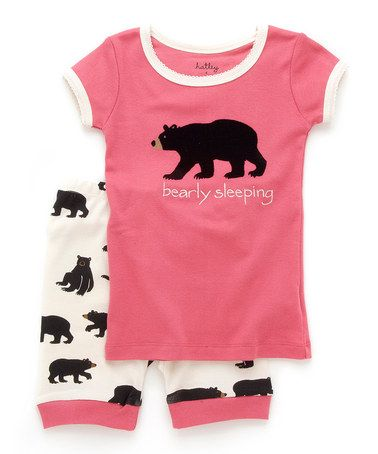 {Pink & White Bearly Sleeping Pajama Set - Toddler & Girls by Hatley} Bearly Sleeping *Too cute.