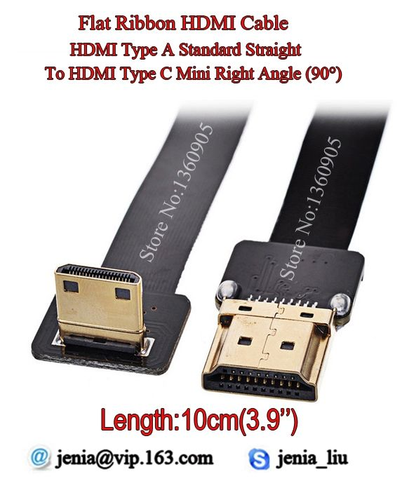 850.00$  Watch here - http://alivob.shopchina.info/go.php?t=32716154759 - 100PCS 10CM Short 3.9'' Ultra Thin HDMI Cable Type A Straight  to Type C Mini Right Angle 90 Degree Flat Ribbon Cable DJI FPV 850.00$ #aliexpressideas