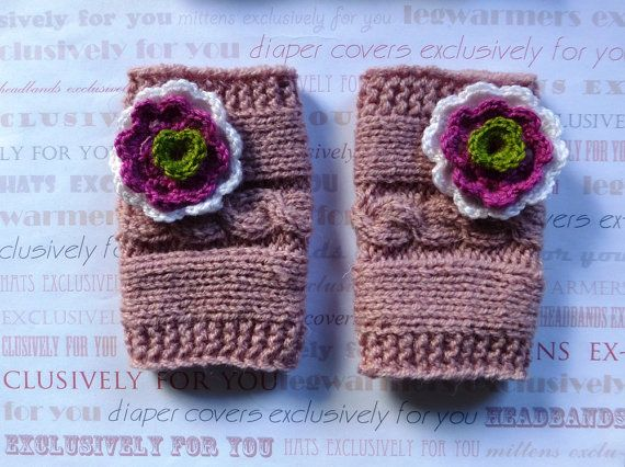 Knit Cable Leg Warmers Baby Legwarmers Newborn by PrettyBagsByMia