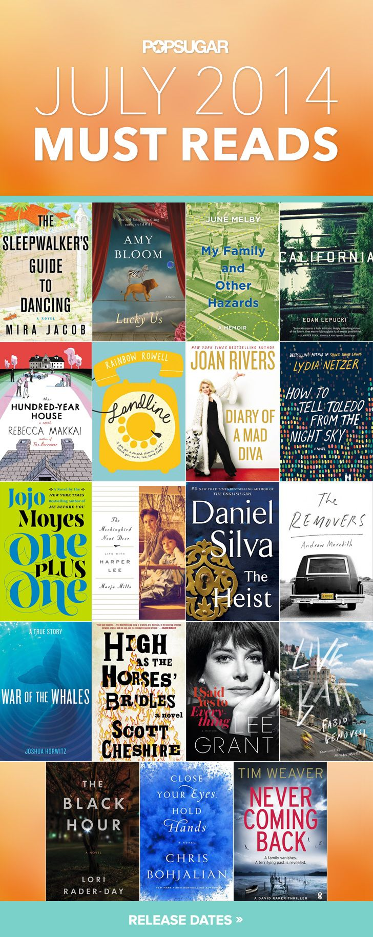 July 2014 Must Reads - ALL THE BOOKS LOOK GREAT, EXCEPT JOAN RIVERS.  I'M NOT A FAN SO I'LL PASS ON THIS ONE.