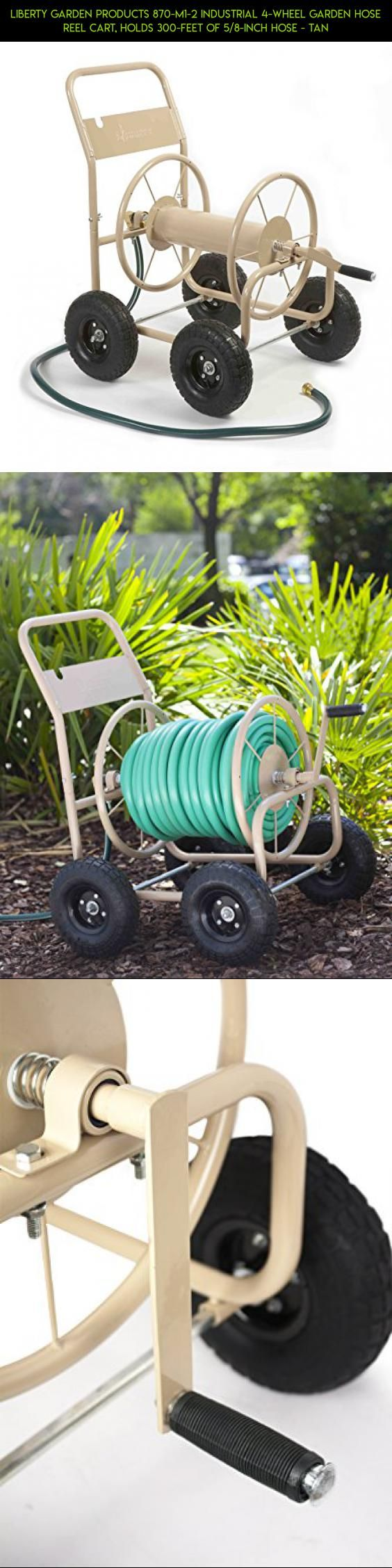 Liberty Garden Products 870-M1-2 Industrial 4-Wheel Garden Hose Reel Cart, Holds 300-Feet of 5/8-Inch Hose - Tan #9x13 #parts #products #plans #kit #gadgets #shopping #fpv #tech #technology #drone #racing #camera #storage