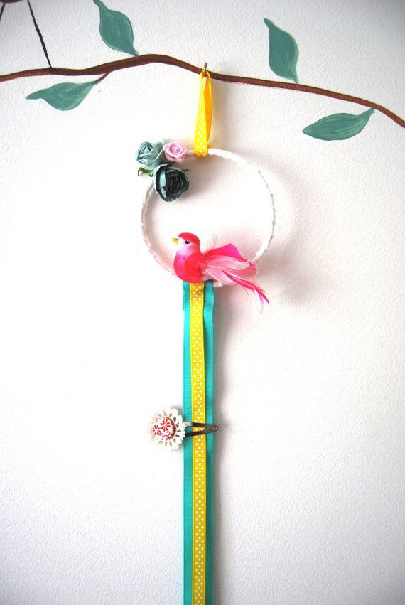 Bird Hairclip Holder by BubbyMakesThree on Etsy, $19.00  http://www.etsy.com/listing/89776129/bird-hairclip-holder