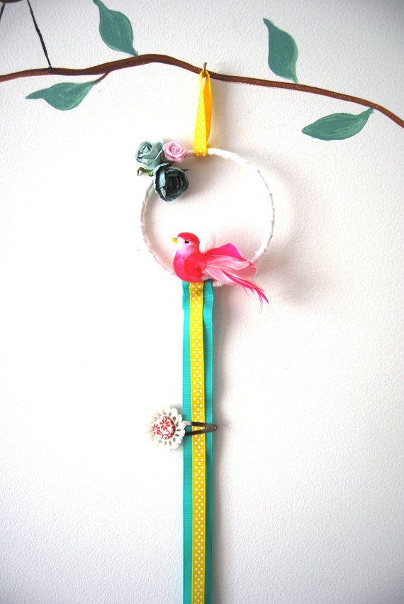 Bird Hairclip Holder by BubbyMakesThree on Etsy, $19.00  http://www.etsy.com/listing/89776129/bird-hairclip-holder