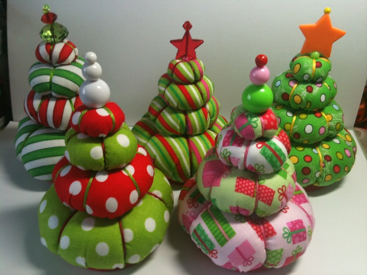My Christmas Tree Pin Cushions Designed and Created by Margarita