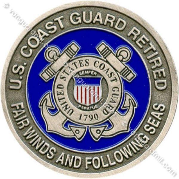 Coast Guard Coin United States Coast Guard Retired