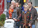 Baby on board! Pregnant Chelsea Clinton takes a Christmas stroll around Manhattan with her husband Marc, Bill, Hillary, baby Charlotte - and nothing can wipe the smile off their faces | Daily Mail Online