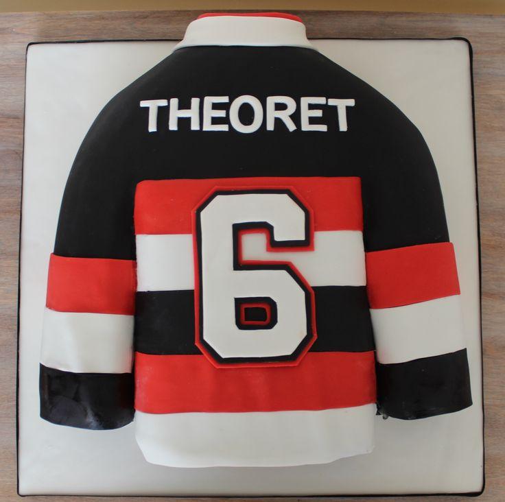 Hockey Ottawa Senators Sens jersey cake NHL sculpted cake