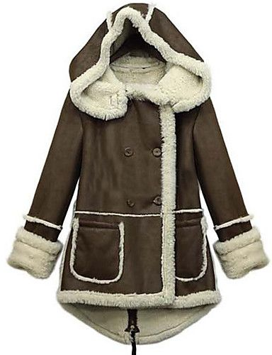 Warm winter  jacket for women! How do you like this combination of brown and white? Find it at $25.47.  Enjoy up to 85% OFF on our Black Friday sale - till December 1st.