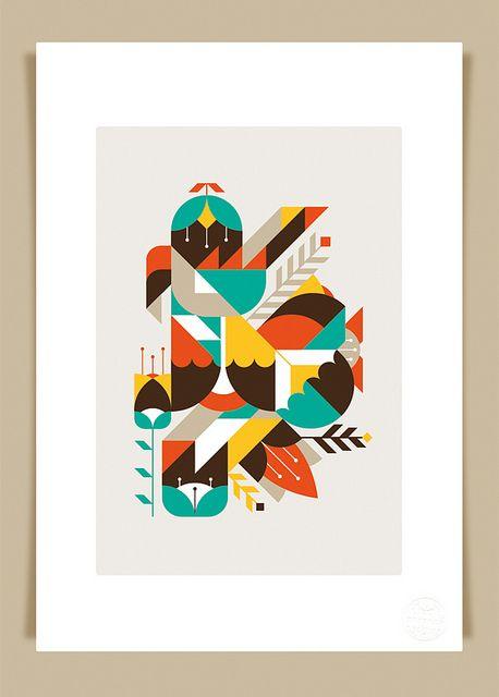flowers & geometrics print