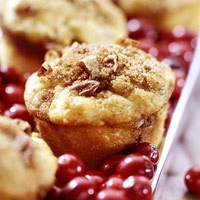 Sour Cream-Cranberry Muffins