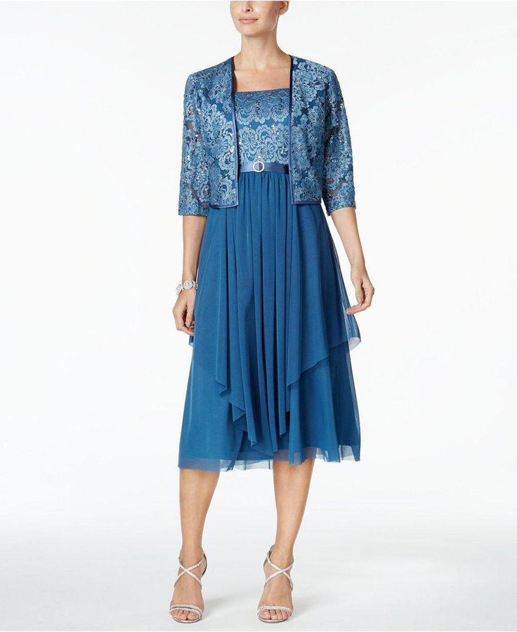 R & M Richards Petite Sequined Dress & Jacket http://picvpic.com/women-dresses/r-m-richards-petite-sequined-dress-jacket#Silver