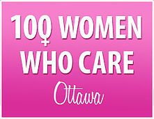 100 Women Who Care Ottawa.  We are women who care deeply about our community.  We give back to local hard working charitable organizations.  Care to join us and make a difference?
