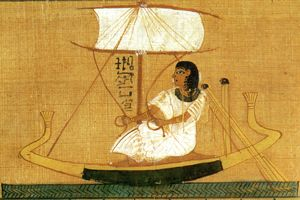 Papyrus Paintings from the Book of the Dead  Spell for bringing a ferry boat in the realm of the dead